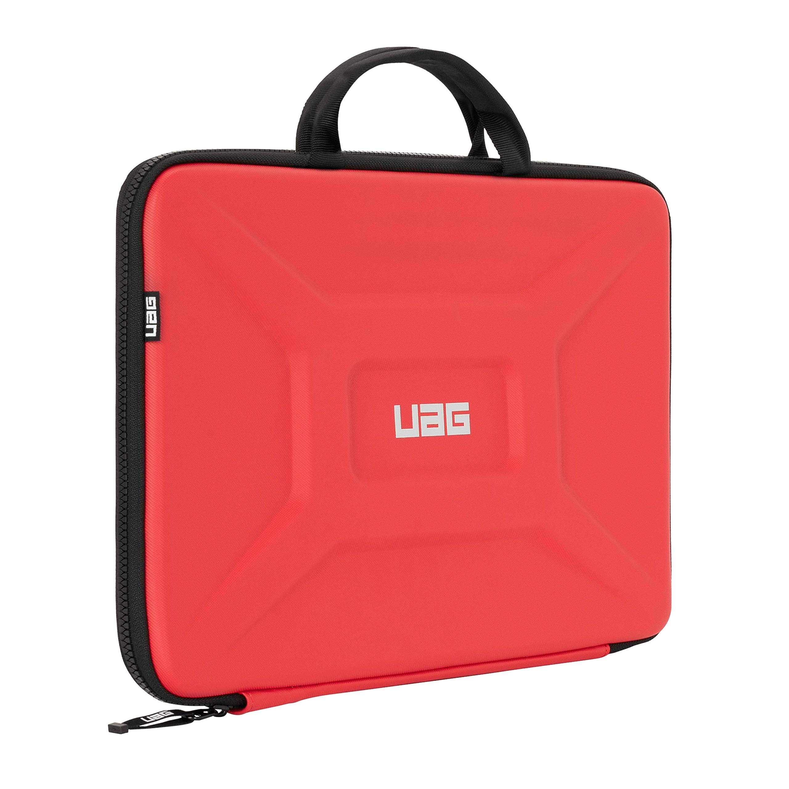 """URBAN ARMOR GEAR UAG Large Sleeve with Carrying Handle for 15"""" Devices Magma Rugged Tactile Grip Weatherproof Protective Slim Secure Laptop/Tablet Sleeve"""