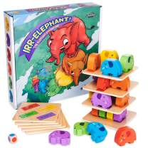 Imagination Generation Irr-Elephant -The Elephant Stacking Tower Game - Children's Tabletop Board Game for Kids and Toddlers - Wooden Block Dexterity for Fun Family Game Night and Early Learning Play