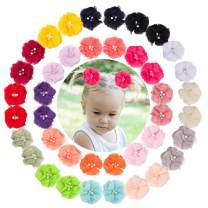 VINOBOW 40Piece Flower Hair Clip For Girls Hair Accessories For Baby Children Kids Infants