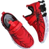 MEI NIAN GUAN Little Boys Girls Slip On Sneakers Cool School Shoes Athletic Gym Running Tennis Sneaker for Kids