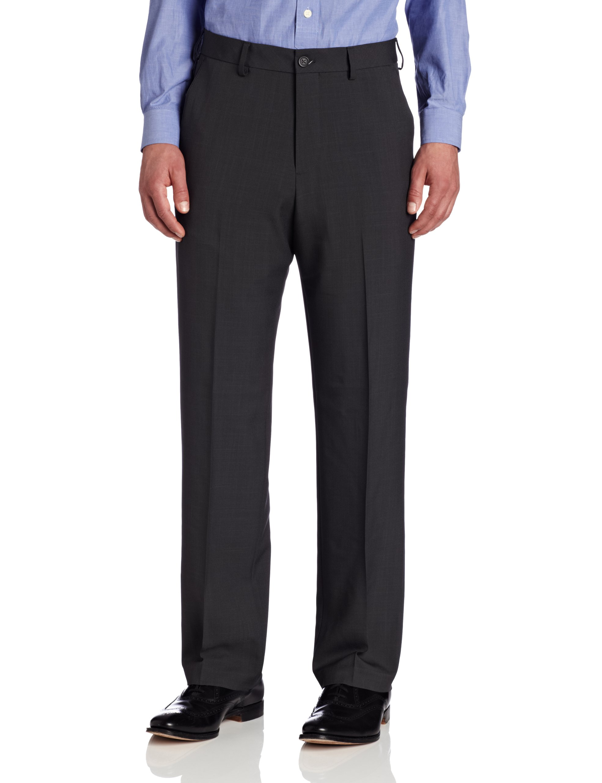 Van Heusen Men's Big and Tall Flat-Front Crosshatch Pant