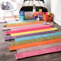 nuLOOM Pantone Colorful Stripes Kids Rug, 5' x 8', Multi