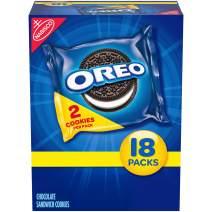 OREO Chocolate Sandwich Cookies, 18 Snack Packs (2 Cookies Per Pack)