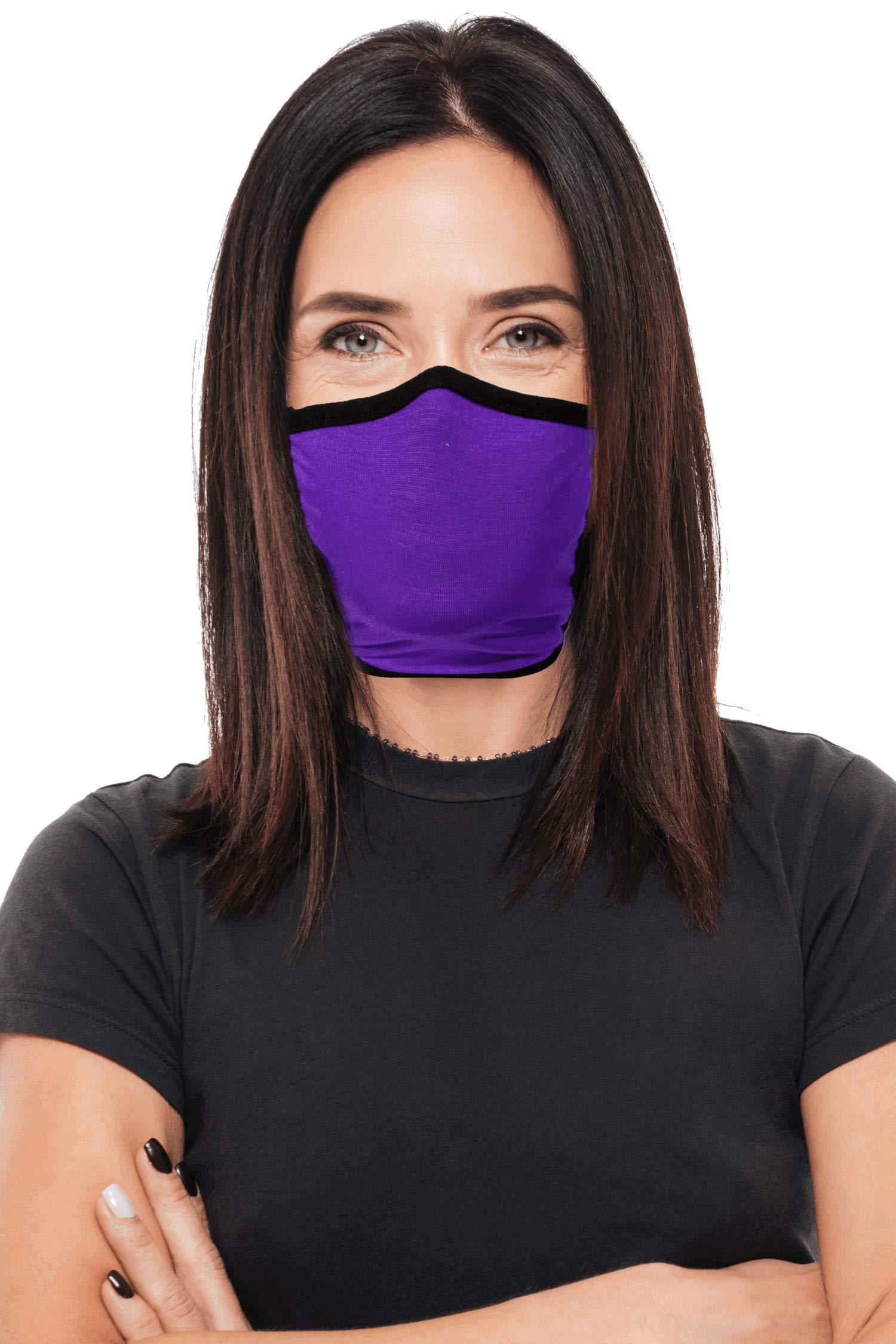 FREE 2 DAY SHIPPING Face Covering 2 Pack Adult Reversible Double Layer Knit Washable and Reusable made in USA