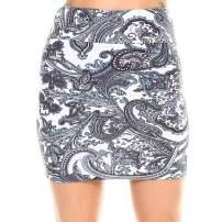 Fashionazzle Women's Casual Stretchy Bodycon Pencil Mini Skirt (X-Large, KS05-#42 Ivory)