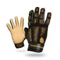 POWERHANDZ Weighted Baseball & Softball Gloves for Strength and Resistance Training - Non Slip, Pure-Grip Baseball and Softball Practice Gloves for Improved Performance - Small