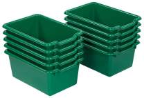 ECR4Kids Scoop-Front Storage Bins, Easy-to-Grip Design Storage Cubbies, Kid Friendly and Built to Last, Pairs with ECR4Kids Storage Units, 10-Pack, Green