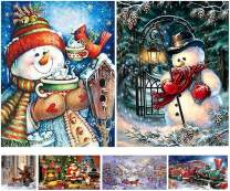 5D DIY Diamond Painting Full Drill by Number Kits Christmas Decoration for Adults Kids, Crafts & Sewing Cross Stitch (Snowman11.8x15.7)