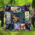 Butterfly October Girl Quilted Quilt Throw Blankets Birthday Thanksgiving Customized Gifts Bedding Cover Patchwork Tapestry Wall Hanging (Twin 60x80inch)