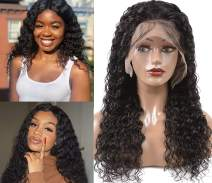 """Siyun Show Lace Front Wigs Human Hair For Black Women Brazilian Water Wave Human Hair Wigs with Baby Hair Pre Plucked Natural Hairline Wigs 10"""""""