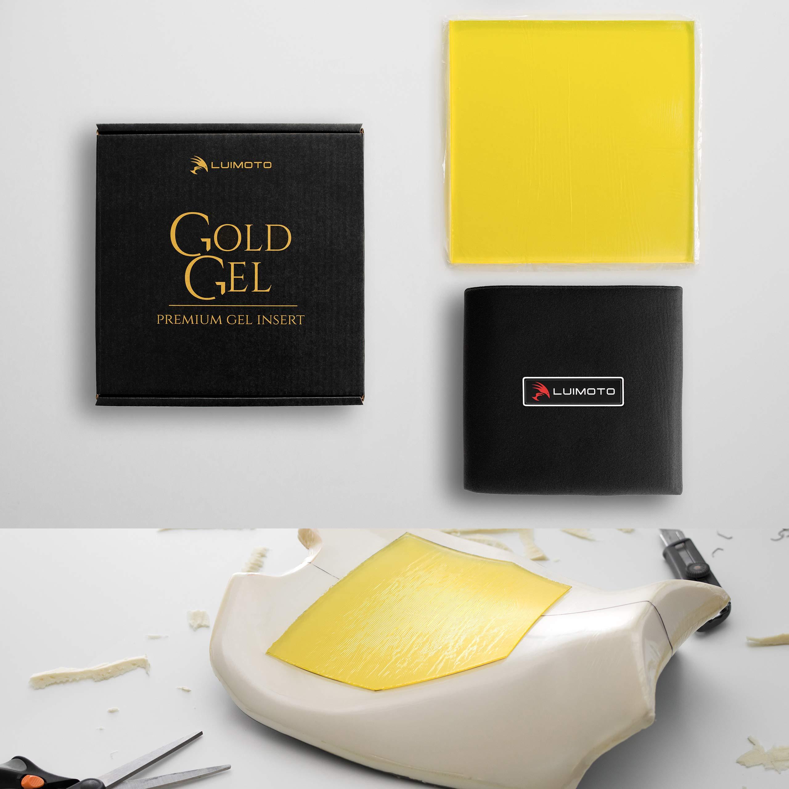 GOLD GEL by Luimoto. Premium Motorcycle Seat Gel Pad Insert, Increase rider comfort Universal Fit (Rider Seat Kit GG1)