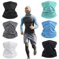 Neck Gaiter Face Scarf Cover Mask Headwear Bandana Dust Sun UV Protection Balaclava Lightweight Face Mask for Men Women