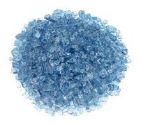 """American Fireglass 1/4"""" Pacific Blue Fire Glass, 20 lb. Bag"""