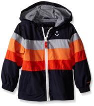 London Fog Little Boys' Toddler Chest Stripe Poly Lined Jacket
