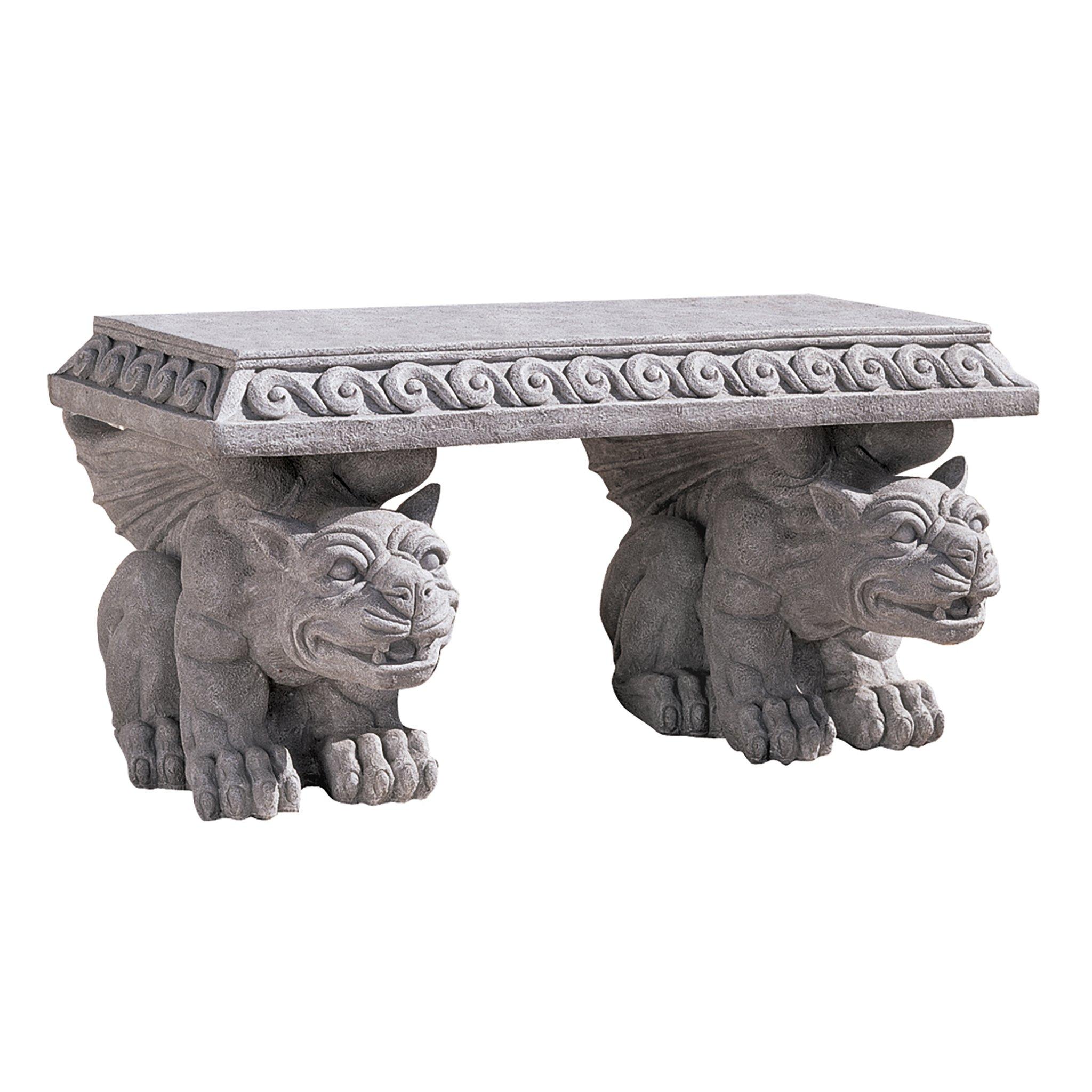 Design Toscano Blair Castle Sculptural Gargoyle Bench