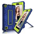 "All-New Amazon Fire 7"" 2017 Case, Elegant Choise 7th Generation Fire 7 Heavy Duty Shockproof Armor Rugged Protective Case Cover with Stand for Amazon Kindle Fire 7 2017 Release (Blue/Yellow)"