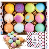 Bath Bomb Gift Set, 12 Pack Natural Handmade Bubble Bath Bombs, Perfect for Bubble Bath, Hot Spring Bath, Children's SPA, Birthday and Mother's Day Christmas Women, Wife, Girlfriend Gift Idea.
