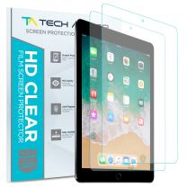 Tech Armor Anti-Glare Film Screen Protector Designed for Apple iPad Air 3, iPad Pro 10.5 inch [NOT Glass] - Case-Friendly, Full Coverage, Scratch Resistance [2-Pack]