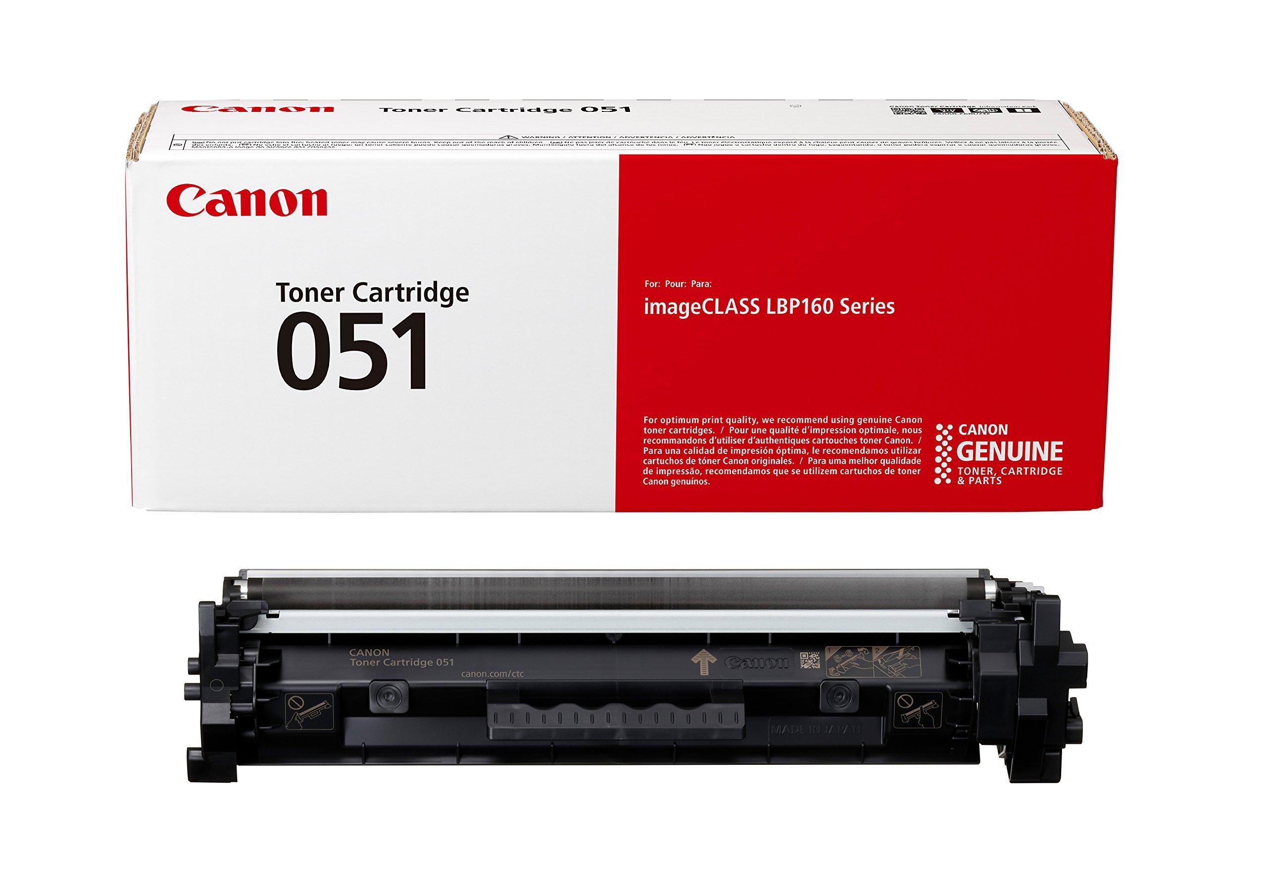 Canon Genuine Toner Cartridge 051 Black (2168C001), 1-Pack, for Canon imageCLASS MF264dw, MF267dw, MF269dw, LBP162dw Laser Printers