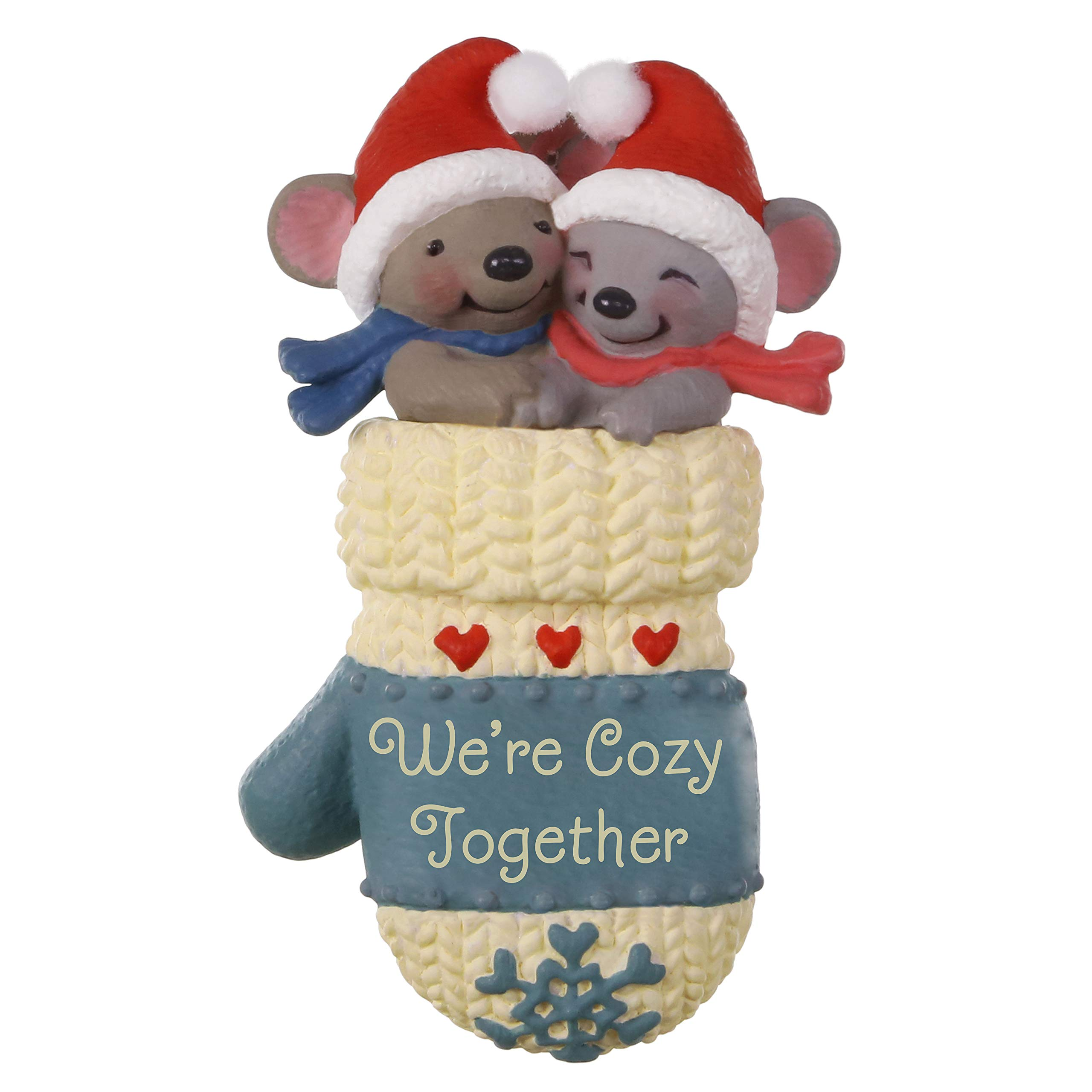 Hallmark Keepsake Christmas 2019 Year Dated We're Cozy Together Mouse Couple in Mitten Ornament