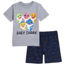 Pinkfong Baby Shark Short Sleeve Short Sleeve Graphic T-Shirt & Shorts Set