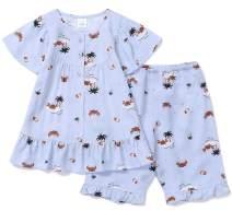 orcite Girls Pajamas Set 18M - 14 Years Short Sleeve Loose Fit PJS
