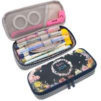 Twinkle Club Cute Pencil Pen Case Bag Pouch Holder for Middle High School College Office Storage(Garden)