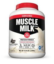 Muscle Milk Genuine Protein Powder, Cookies 'N Crème, 32g Protein, 4.94 Pound
