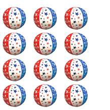 Windy City Novelties (12 Pack) Patriotic Stars & Stripes Theme Inflatable Beach Balls 16 inch