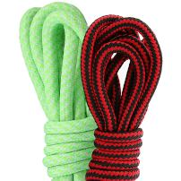 (2 PACK PAIRS) DailyShoes Round Hiking Shoelaces, Strong Durable, Woebegone Lilt