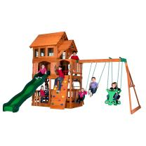 Backyard Discovery Liberty II All Cedar Wood Playset Swing Set