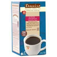 Teeccino Dandelion Tea - Vanilla Nut – Roasted Herbal Tea, Organic Dandelion Root, Prebiotic, Caffeine Free, Gluten Free, Acid Free, 25 Tea Bags