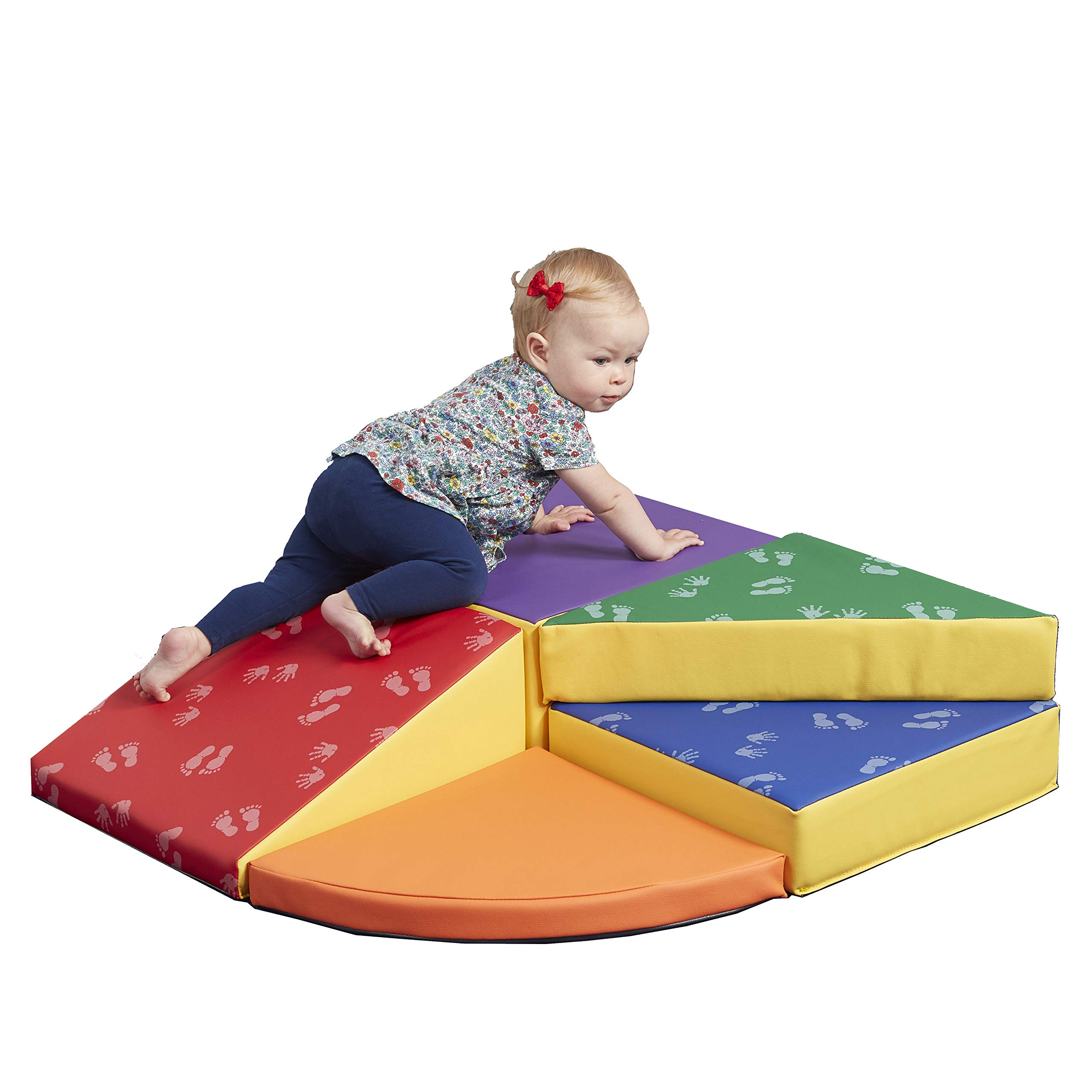 ECR4Kids SoftZone Junior Tiny Twisting Climber - Indoor Active Play Structure for Babies and Toddlers - Soft Foam Play Set, Hands & Feet (5-Piece)