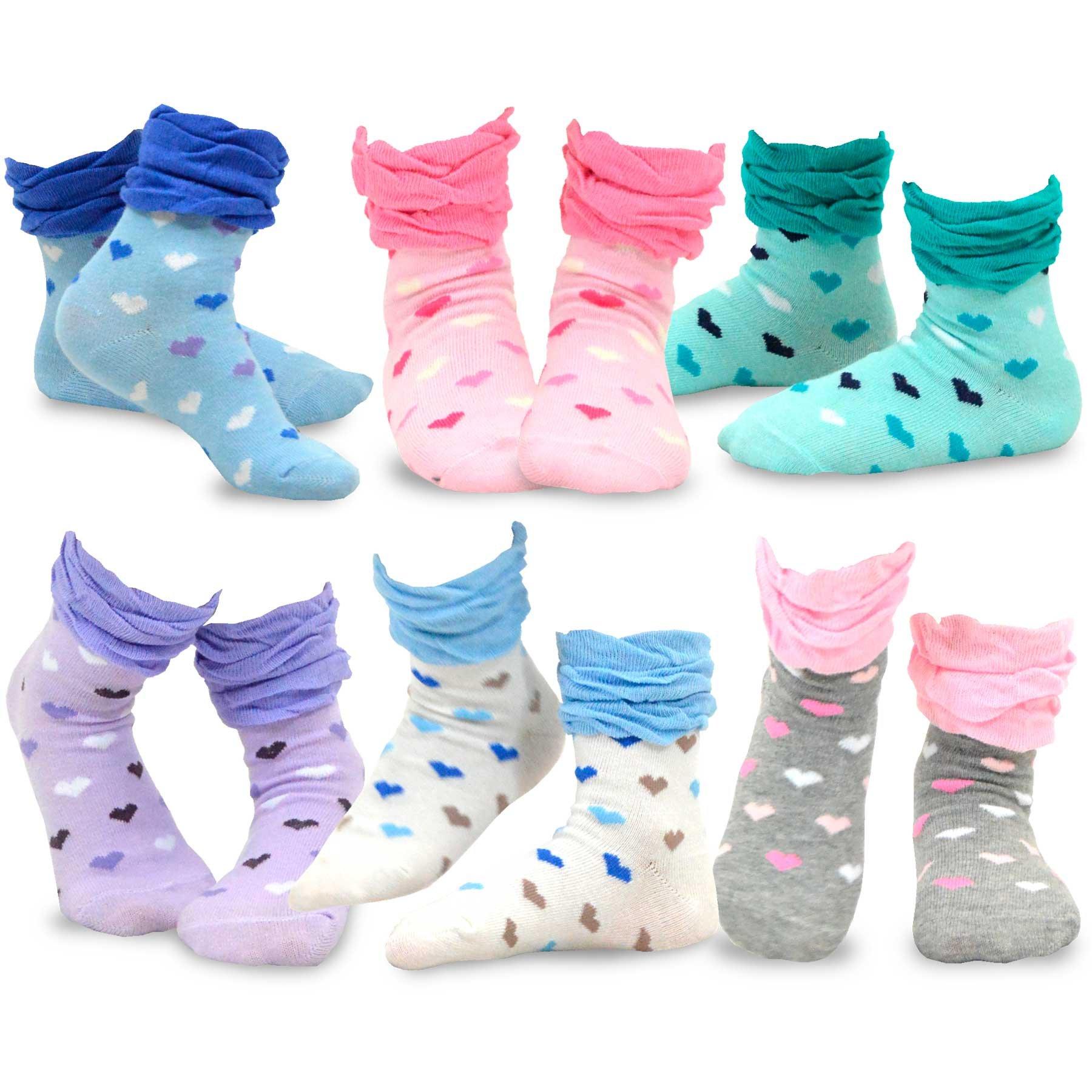 TeeHee (Naartjie) Kids Girls Cotton Basic Crew Socks 6 Pair Pack