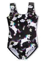 DAXIANG Leotards for Girls Gymnastics Unicorn Biketards Sparkle Purple