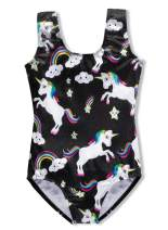 DAXIANG Leotards for Girls Gymnastics Unicorn Biketards Sparkle Purple