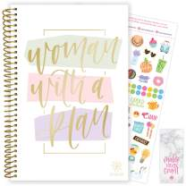 "bloom daily planners 2020-2021 Academic Year Day Planner (July 2020 - July 2021) Organizer & Calendar - Weekly/Monthly Dated Agenda Book with Stickers and Bookmark - 6"" x 8.25"" - Woman with a Plan"