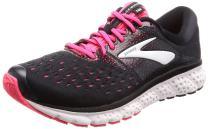 Brooks Womens Glycerin 16 Running Shoe - Black/Pink/Grey - D - 9.0