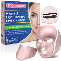 CRAFTRONIC NanoSkin CE-Cleared Pro 7 Color | LED Mask Skin Care Photon Electric Light Therapy | For Healthy Face & Neck Skin Rejuvenation | Clinically Tested Home & Salon Aesthetic Mask (Rose Gold)