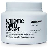 Authentic Beauty Concept Hydrate Mask | Normal To Dry or Curly Hair | Add Moisture & Shine | Vegan & Cruelty-free | Silicone-free