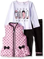 Kids Headquarters Baby Girls 3 Pieces Vest Set
