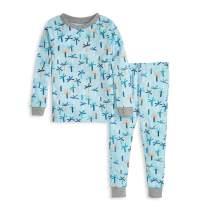 Burt's Bees Baby - Baby Boys Pajamas, Tee and Pant 2-Piece PJ Set, 100% Organic Cotton