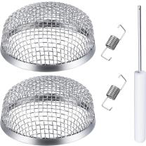 TOODOO 2 Pack Flying Insect Screen RV Furnace Vent Cover 2.8 Inch Stainless Steel Mesh with Installation Tool
