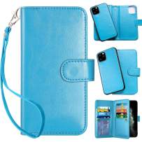 Vofolen 2-in-1 Case for iPhone 11 Pro Max Case Wallet Card Holder Slot Detachable Hybrid Protective Slim Hard Shell Magnetic PU Leather Folio Pocket Flip Cover for iPhone 11 Pro Max 6.5 (Blue)