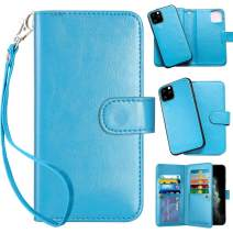 Vofolen 2-in-1 Case for iPhone 11 Pro Case Wallet Credit Card Holder Slot Detachable Hybrid Protective Slim Hard Shell Magnetic PU Leather Folio Pocket Flip Cover for iPhone 11 Pro 5.8 (Blue)