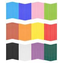 "120 PCS Colored Hot Glue Sticks, Gartful 12 Colors Mini Melt Glue Sticks for Arts & Craft, DIY Projects, General Repair, Diameter 0.28"", Length 3.9"""