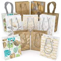 """ARTEZA Gift Bags 9.5""""x7""""x3.4"""", Set of 18pcs (9 Mixed Designs, 2 pcs Each Design), Perfect for Any Holiday Occasion, Graduations, Birthday Parties and More!"""