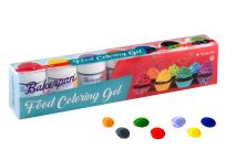 Bakerpan Food Coloring Gel Concentrate 1 oz Jars, For Icing, Cakes, Set of 7 Colors