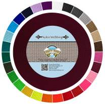 Country Brook Design - Durable 1 Inch Heavy Nylon Webbing - 29 Vibrant Colors (Burgundy, 10 Yards)