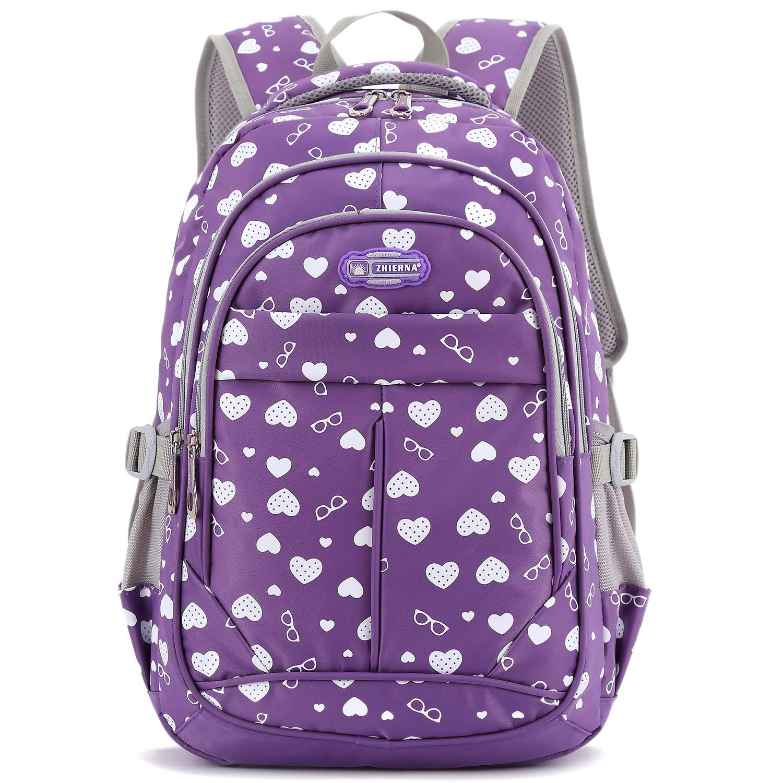 Goldwheat Girls School Backpack Kids Bookbag Outdoor Travel Bag for Elementary Middle School Daypack